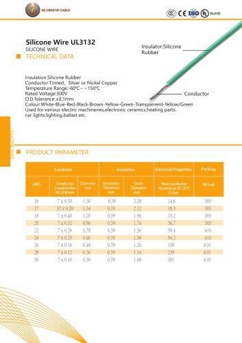 Silicone wire UL3132
