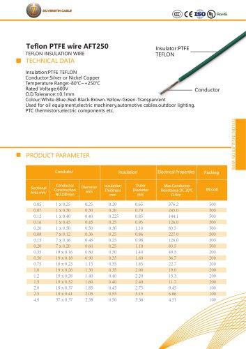 Teflon PTFE wire AFT250