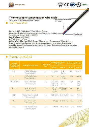 Thermocouple compensate cable
