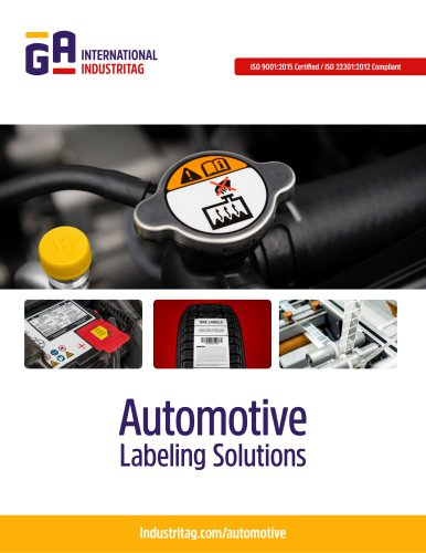 Automotive Labeling Solutions