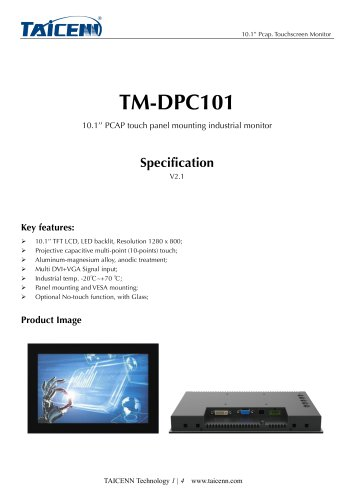 TAICENN/Industrial monitor/TM-DPC101