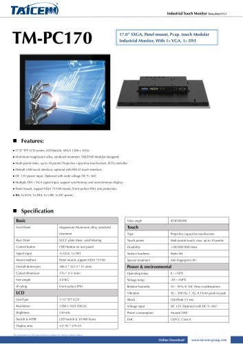 TAICENN/industrial monitor/TM-PC170