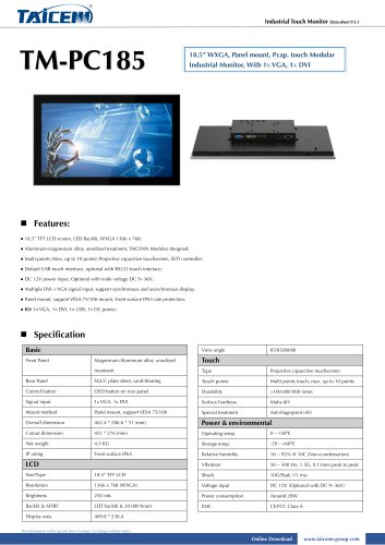 TAICENN/Industrial monitor/TM-PC185