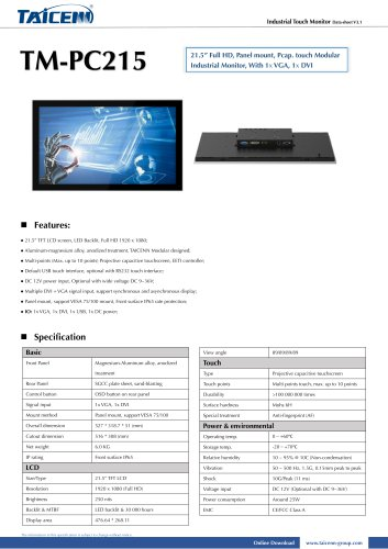 TAICENN/Industrial monitor/TM-PC215