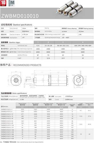 Gearbox Motor 10mm MD