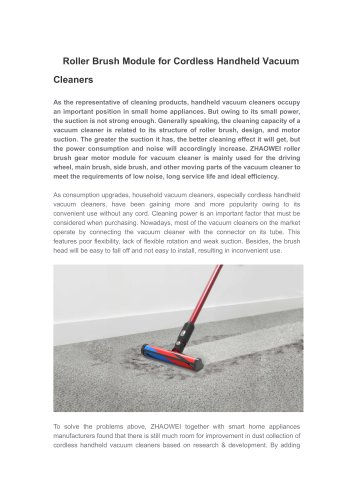 Motor for Cordless Handheld Vacuum Cleaners