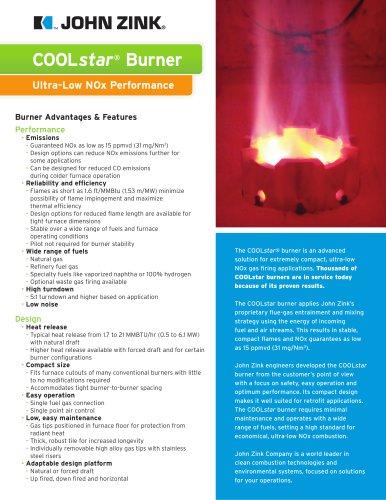 COOLstar® Burner