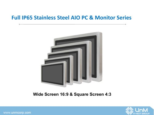 Full IP65 Stainless Steel AIO PC & Monitor Series