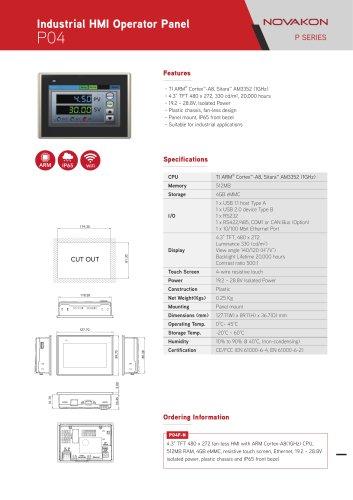 Industrial HMI Operator Panel P04