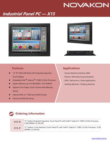 Industrial Panel PC X15