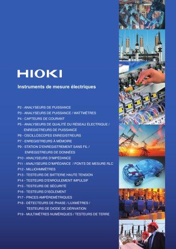 Instruments de mesure électriques - Catalogue présentation