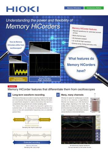 Memory HiCorders