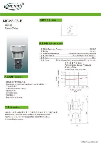 Ball check valve MCV2-08-B