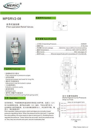 Pilot-operated relief valve MPSRV2-08 series