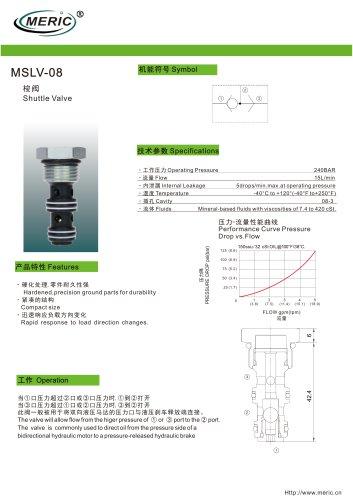 Shuttle check valve MSLV-08