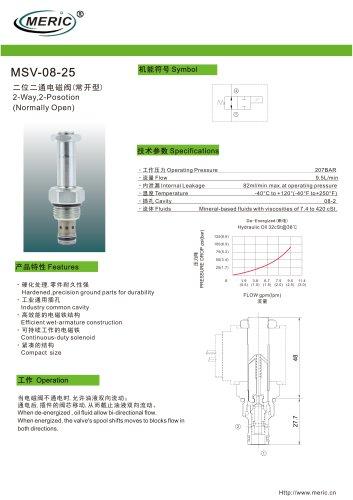 Spool hydraulic directional control valve MSV-08-25