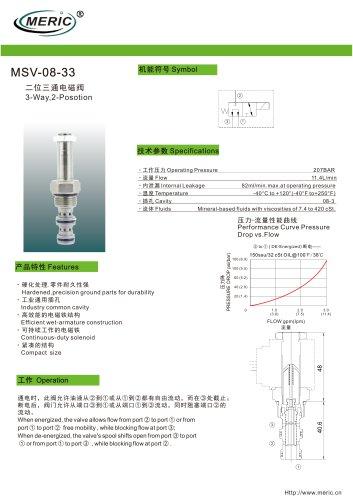 Spool hydraulic directional control valve MSV-08-33