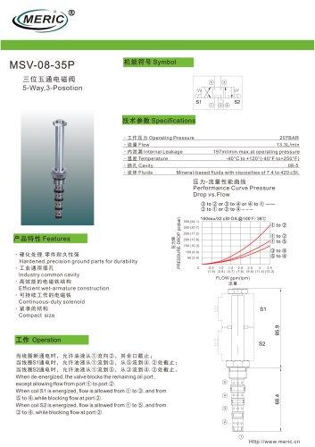 Spool hydraulic directional control valve MSV-08-35P