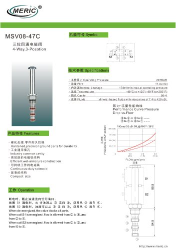 Spool hydraulic directional control valve MSV08-47C