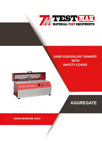 SAND EQUIVALENT SHAKER  WITH SAFETY COVER