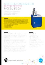 8130A Automated Filter Tester - Specification Sheet