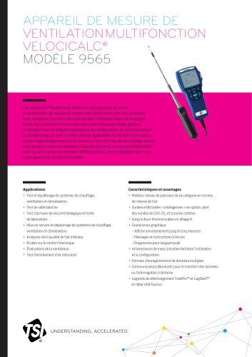 Appareil de mesure de ventilation multifonction 9565