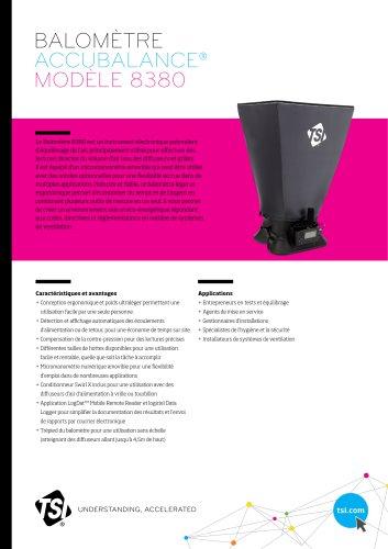 Balomètre Accubalance® Modèle 8380