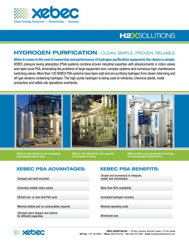 Hydrogen Purification Systems H2X Solutions