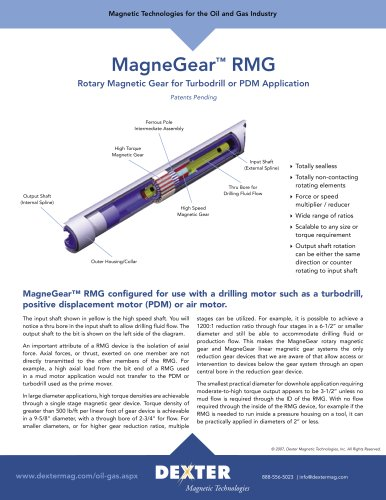 MagneGear Linear and Rotary Magnetic Gears Data Sheet