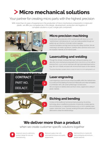 Micro mechanical solutions