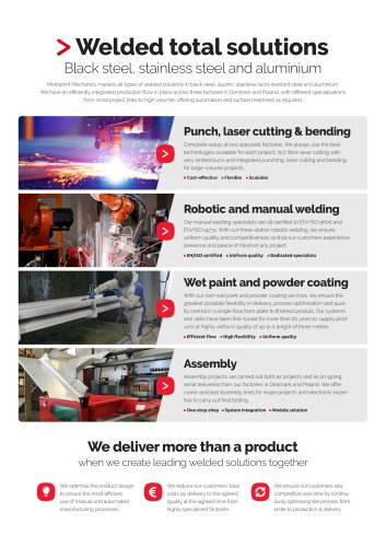 Welded solutions