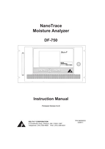 DF750 Operator Manual