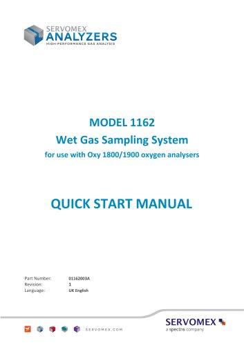 SERVOMEX Model 1162 Quick Start Manual 01162003A_1
