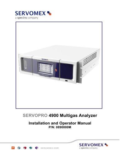 SERVOPRO 4900 Multigas Installation and Operator Manual Rev B04