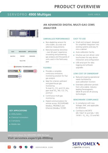 SERVOPRO 4900 Multigas Product Brochure