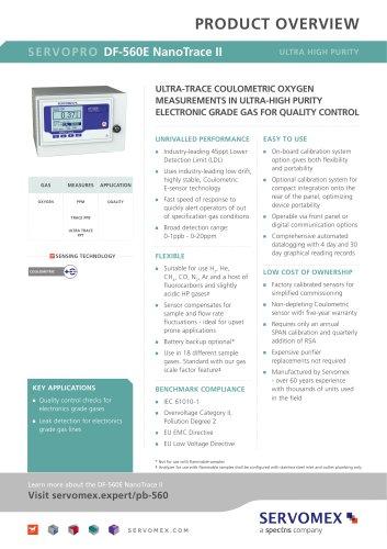 SERVOPRO DF-560E NanoTrace II Product Brochure