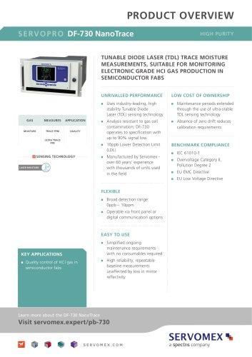 SERVOPRO DF-730 NanoTrace Product Brochure