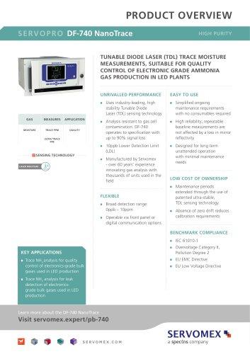 SERVOPRO DF-740 NanoTrace Product Brochure