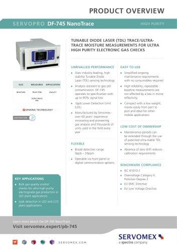 SERVOPRO DF-745 NanoTrace Product Brochure