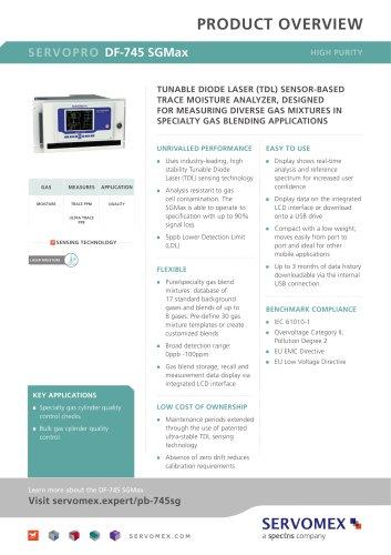 SERVOPRO DF-745 SGMax Product Brochure