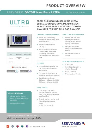 SERVOPRO DF-760E NanoTrace ULTRA Product Brochure