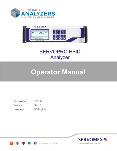 SERVOPRO HFID Operators Manual PN 221196 r0