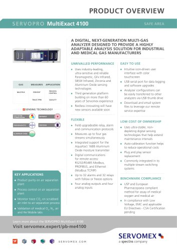 SERVOPRO MultiExact 4100 Product Brochure