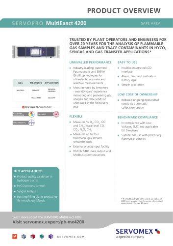 SERVOPRO MultiExact 4200 Product Brochure