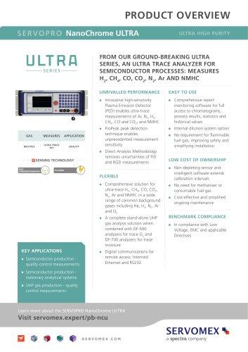 SERVOPRO NanoChrome ULTRA Product Brochure