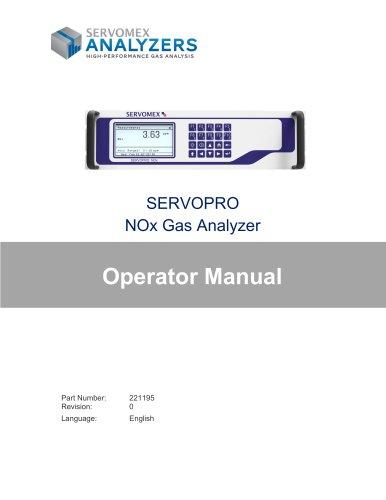 SERVOPRO NOx Operators Manual PN 221195 r0