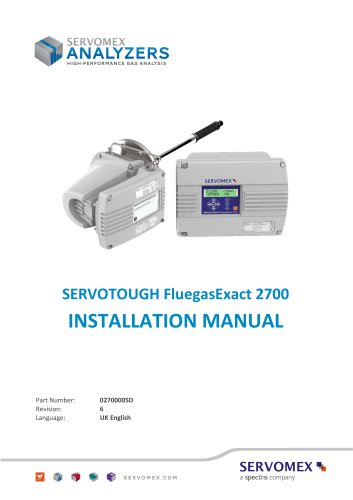 SERVOTOUGH FluegasExact 2700 Installation Manual 02700005D_6