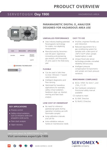 SERVOTOUGH Oxy 1900 Product Brochure