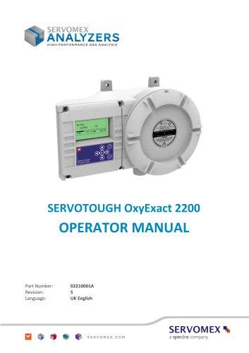 SERVOTOUGH OxyExact 2200 Operator Manual 02210001A_5