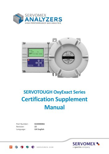 SERVOTOUGH OxyExact 2200 Series Certification Manual 02200008A_22